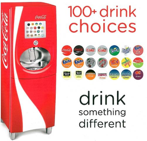 Coca-Cola Freestyle Fountain available at Pizza Tugos