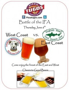Battle of The IPA at Pizza Tugos Ocean City MD