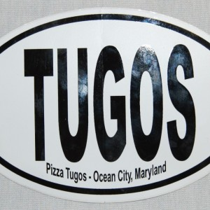 Pizza Tugos Car Sticker