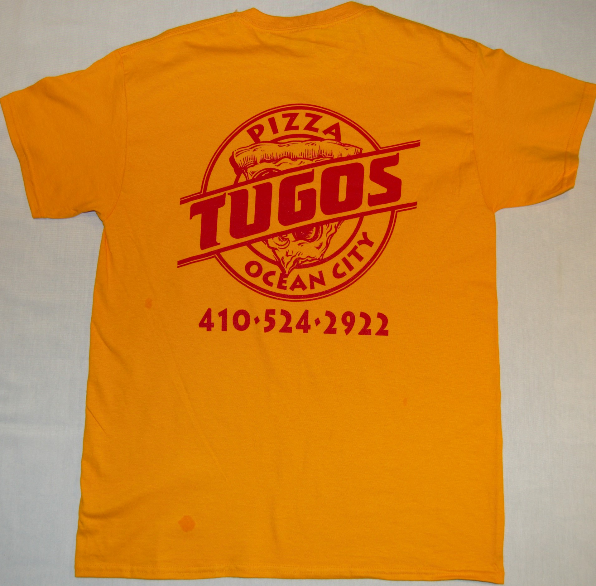 Pizza Tugos Crew Shirt Back