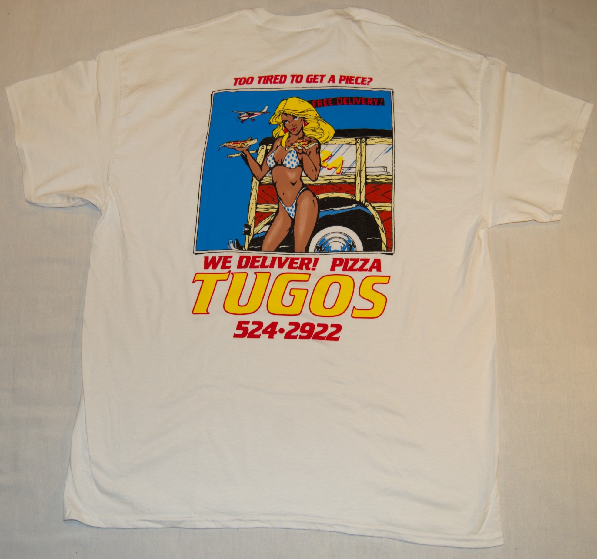 Pizza Tugos Delivery Shirt Back