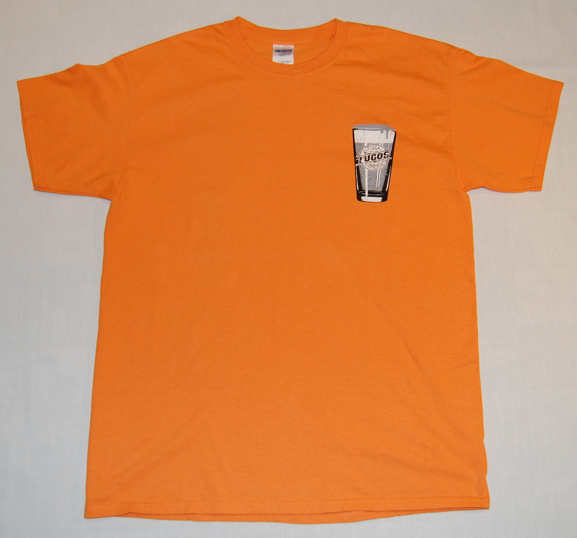 Tugos Taproom Beer Decal Orange Shirt